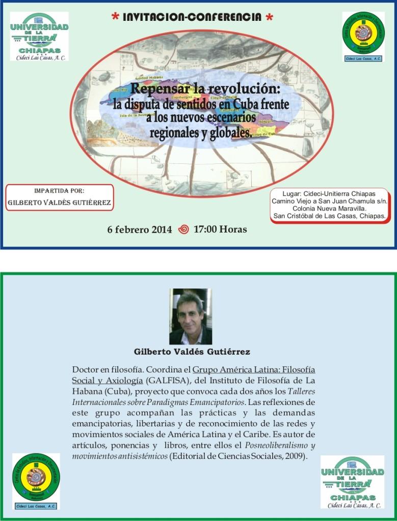 Conferencia-Gilberto Valdés- 6-02-2014