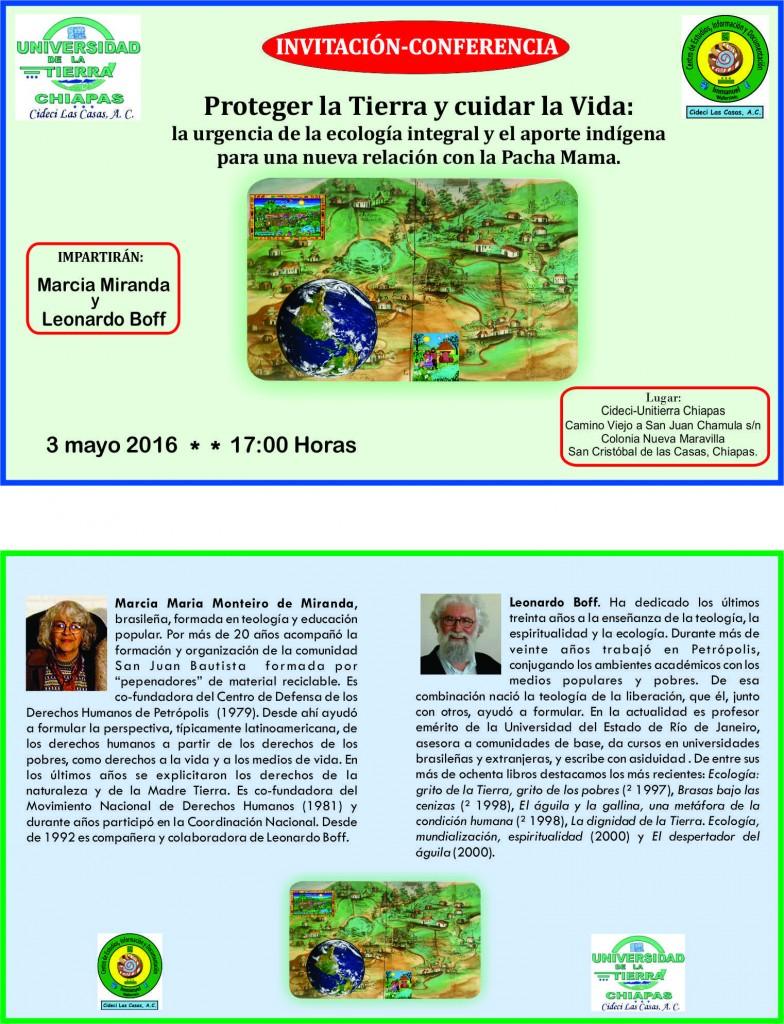 Conferencia Leonardo Boff- 3-05-2016